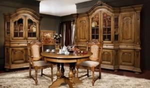 Мебель из массива дуба для гостиной