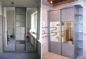 Шкафы купе в ванную